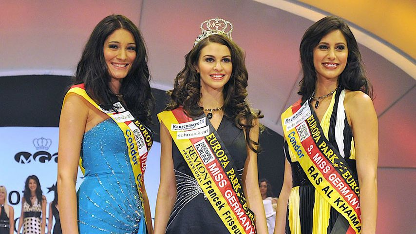Maria Ishutova, Doris Schmidt und Kristina Rohder bei der Wahl zur Miss Germany 2009