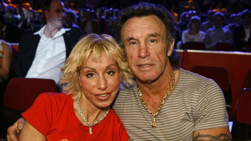 Maria und René Weller bei einem Boxkampf in Stuttgart