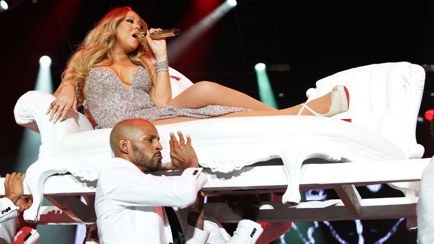 Neuanfang? Umzugswagen vor Mariah Careys Wohnung