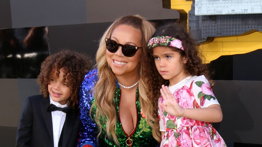 "Mariah Carey mit ihren Kids Moroccan & Monroe bei der ""The Lego Batman Movie""-Premiere in L.A."
