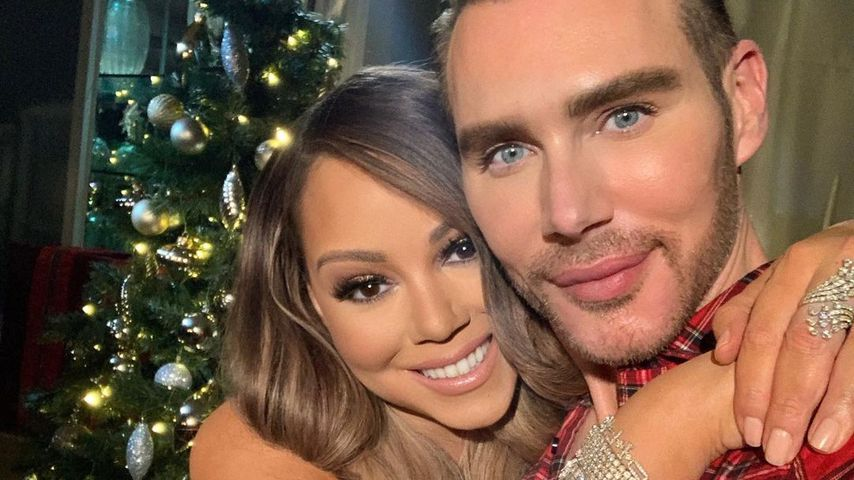 Mariah Carey und Make-up-Artist Kristofer Buckle