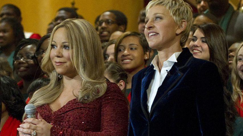 Mariah Carey und Ellen DeGeneres, während einer Christmas Charity-Veranstaltung in Washington