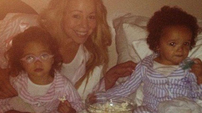 So süß! Mariah Carey im Bett mit ihren Zwillingen