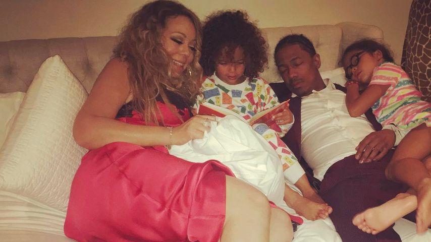 Mariah Carey und Nick Cannon (r.) mit ihren Kindern Maroccan Scott und Monroe