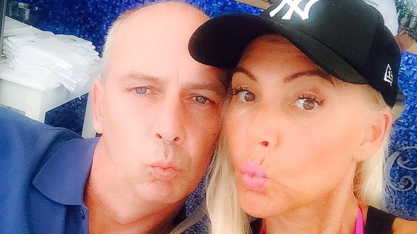 Mario Basler und Natascha Ochsenknecht auf Ibiza