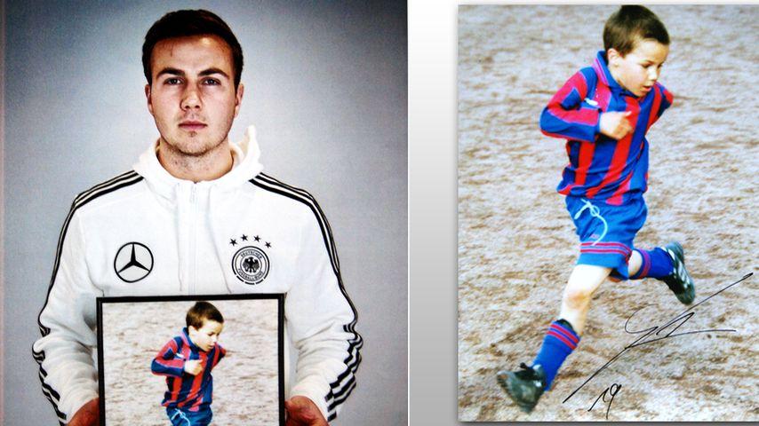 Mario Götze, heute und früher