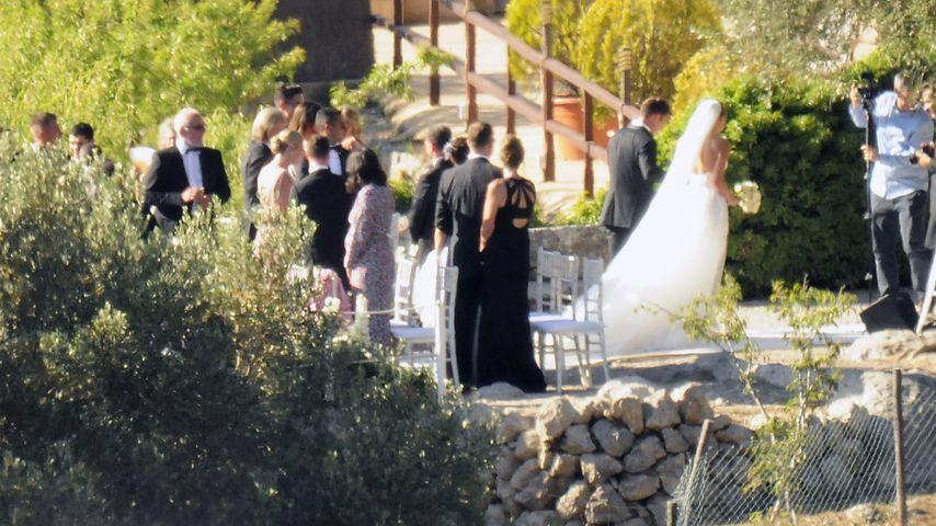 Mario und Ann-Kathrin Götze bei ihrer Hochzeit