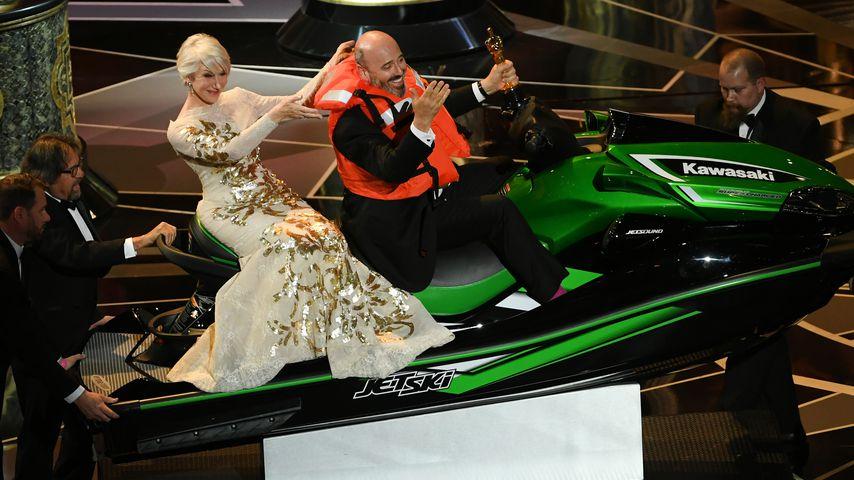 Mark Bridges und Helen Mirron bei der 90. Oscarverleihung