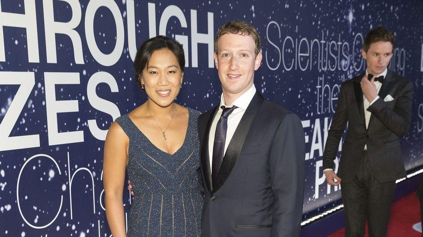 Mark Zuckerberg und Priscilla Chan auf einer Red-Carpet-Veranstaltung