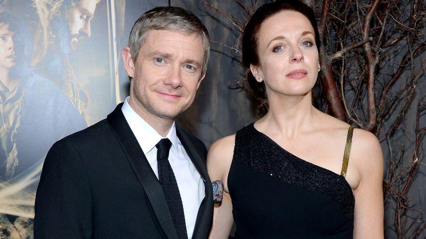 Martin Freeman und Amanda Abbington im Dezember 2013