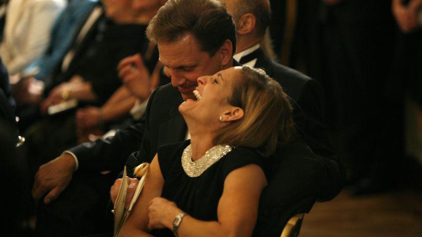 Mary Lou Retton mit ihrem Ehemann Shannon Kelley in Washington 2008