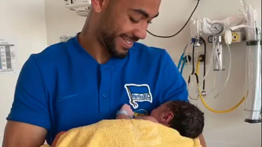 Matheus Cunha mit Sohn Levi