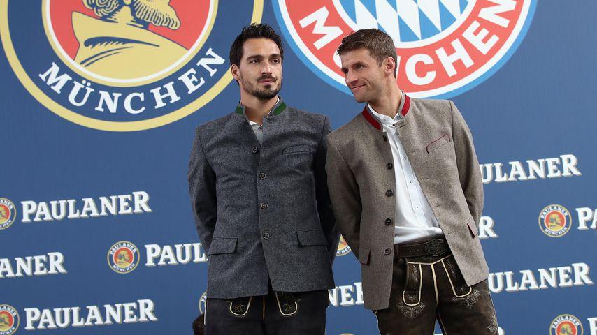 Mats Hummels und Thomas Müller in München 2017
