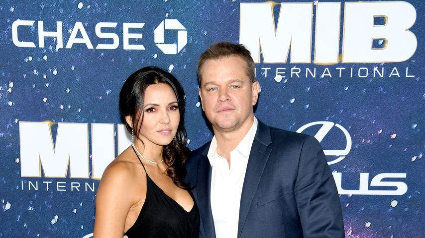 Matt Damon mit seiner Frau Luciana Barroso, Juni 2019