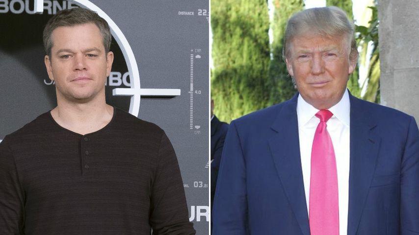 Große Film-Pläne: Matt Damon wäre gern mal Donald Trump