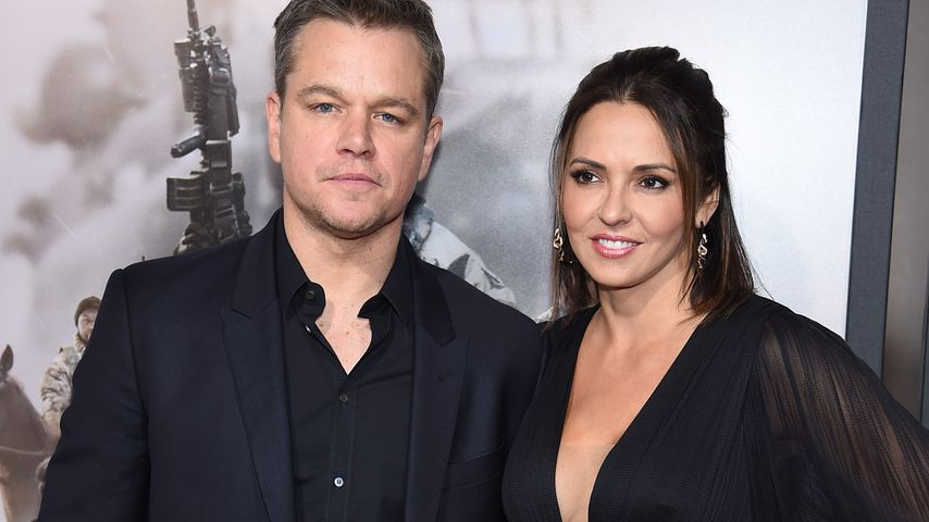 """Matt Damon und seine Frau Luciana, Weltpremiere """"12 Strong"""", New York City"""