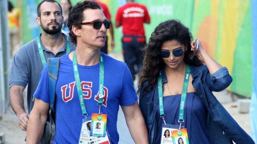 Rio-Style: Matthew McConaughey mit Camila im Olympia-Fieber