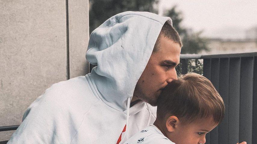 Matthias Höhn mit seinem Sohn Milan