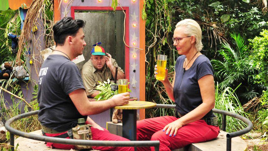 Matthias Mangiapane und Natascha Ochsenknecht im Dschungelcamp, Tag 5