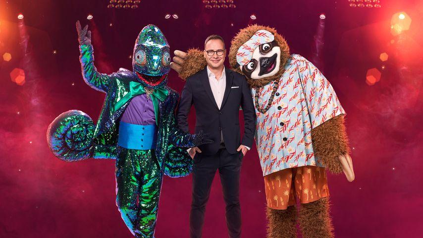 """Matthias Opdenhövel mit zwei neuen """"The Masked Singer""""-Kostümen"""