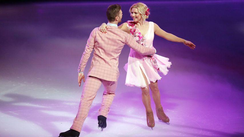 """Matti Landgraf und Aleksandra Bechtel in der zweiten Show von """"Dancing on Ice"""""""