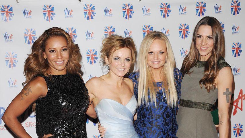 Mel B., Geri Horner, Emma Bunton und Mel C. von den Spice Girls 2012 in London