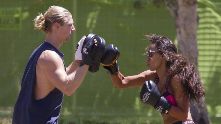 Mel B. mit ihrem Personal-Trainer in Sydney