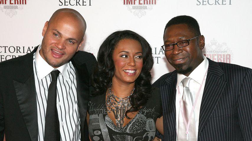 Mel B. mit ihrem Ex-Mann Stephen Belafonte und ihrem Vater Martin Brown, 2007