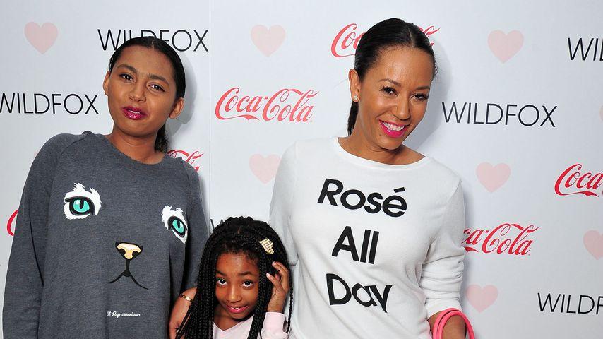 Mel B. mit ihren Töchtern Phoenix Chi, Angel und Madison 2015 in Los Angeles