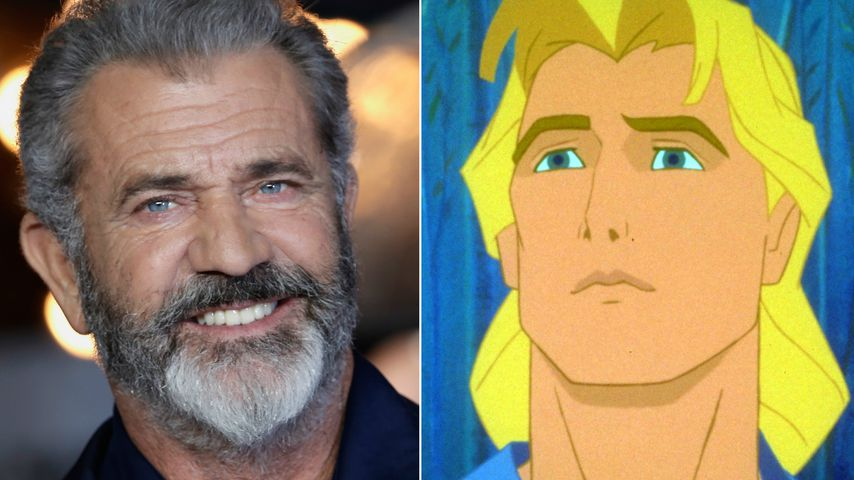 "Collage: Mel Gibson, John Smith aus ""Pocahontas"""