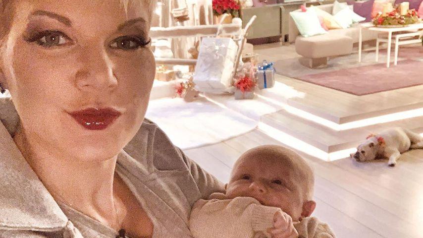 Melanie Müller und ihr Sohn Matty im Dezember 2019