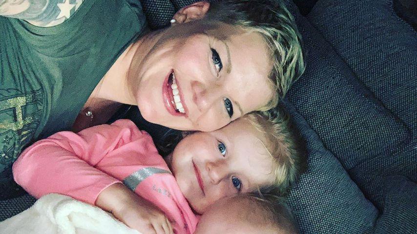 Melanie Müller und ihre Kinder im Juni 2020
