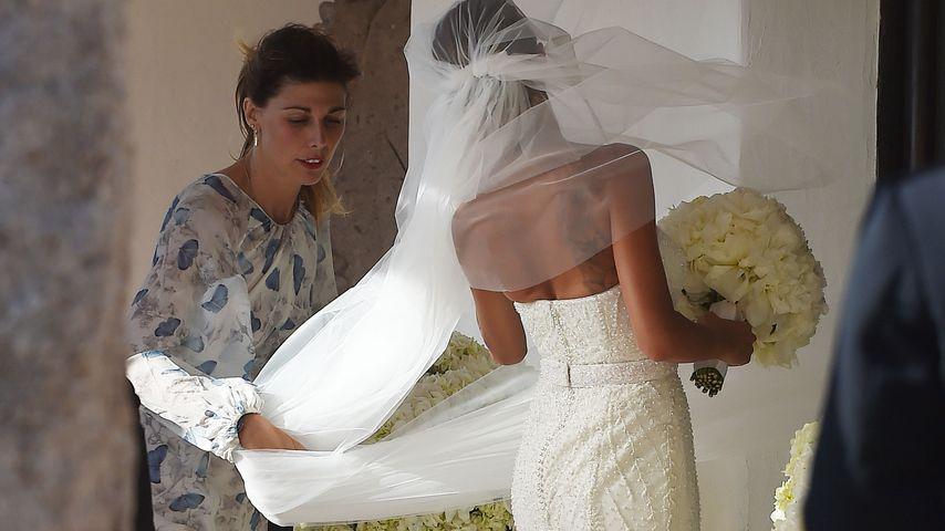 Melissa Satta im Brautkleid