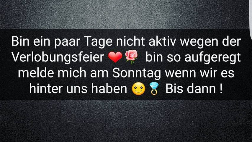 Textnachricht von Meltem Acikgöz' Instagram-Account