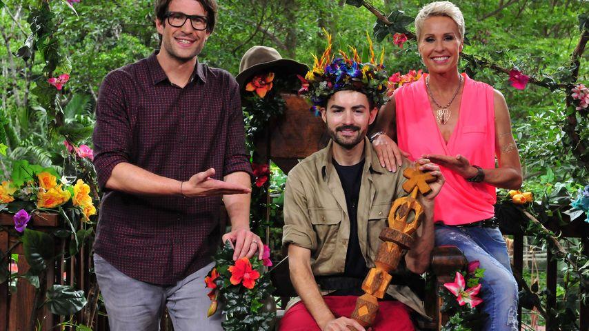 Menderes als Dschungelkönig mit Sonja Zietlow und Daniel Hartwich