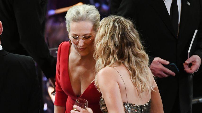 Meryl Streep und Jennifer Lawrence während der Oscarverleihung 2018