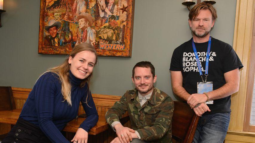 Mette-Marie Kongsved, Elijah Wood und Josh Waller beim Sundance Film Festival 2018