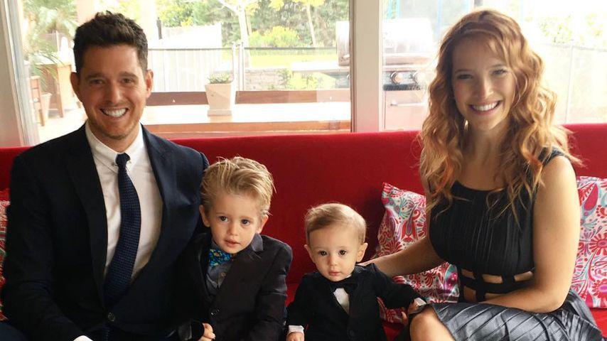 Michael Bublé seine zwei Kinder und Ehefrau Luisana Lopilato 2016