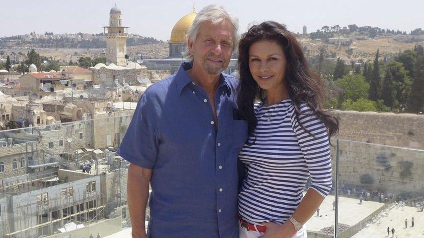 Michael Douglas mit seiner Frau Catherine Zeta-Jones in Jerusalem