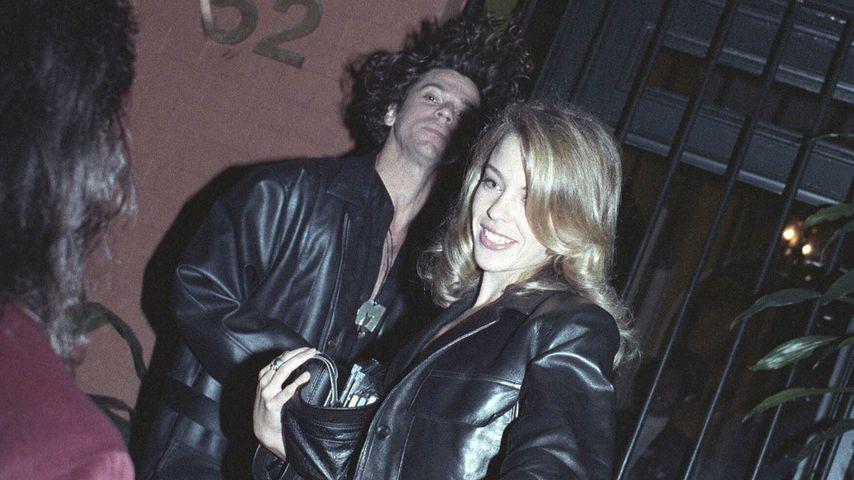 Michael Hutchence und Kylie Minogue im Januar 1990