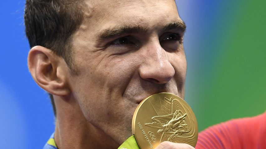 Michael Phelps nach dem 4x100m Freestyle Relay Finale während der Olympischen Spiele in Rio 2016