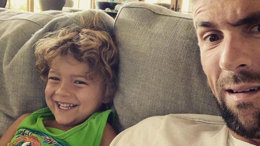 Michael Phelps und sein Sohn Boomer