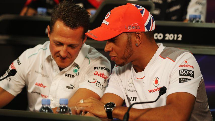 Michael Schumacher und Lewis Hamilton, Ex-Teamkollegen