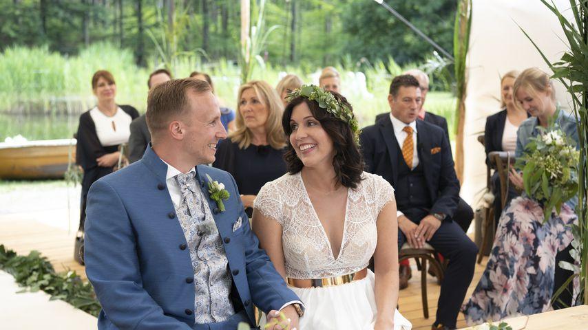 Michael und Lisa bei ihrer Hochzeit