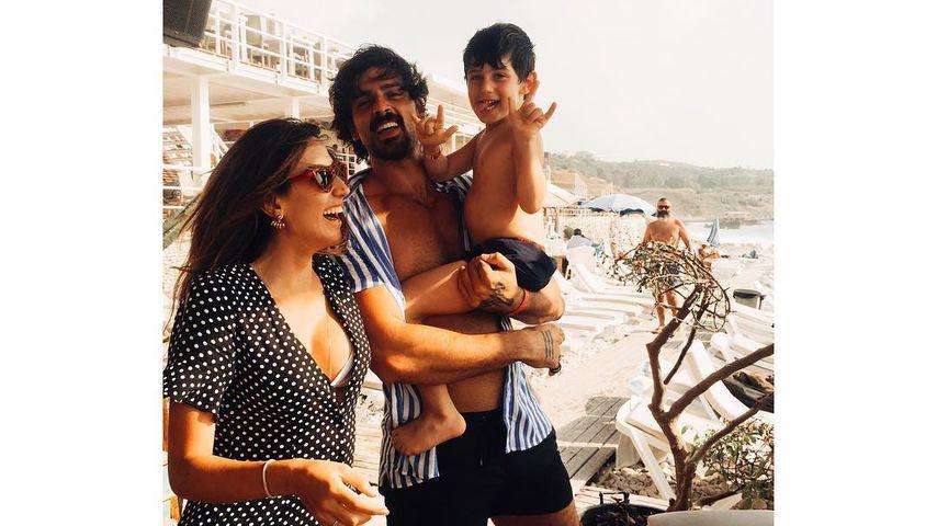 Michele Morrone mit seiner Ex-Frau Rouba und ihrem Sohn