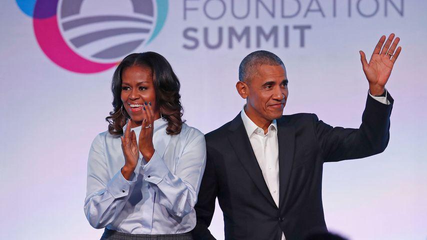 Michelle und Barack Obama, 2017