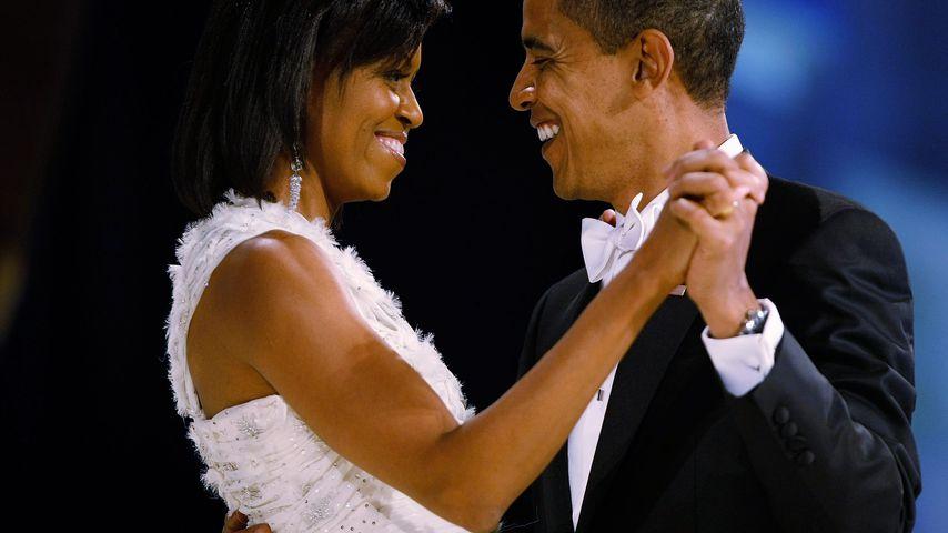 Michelle und Barack Obama auf einem Ball in Washington D.C. im Januar 2009