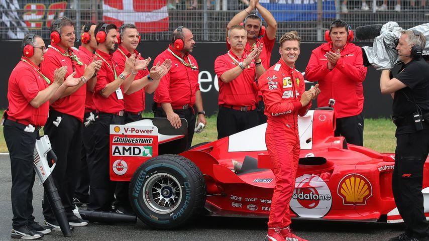 Mick Schumacher (2.v.r.) auf dem Hockenheimring, Ende Juli 2019