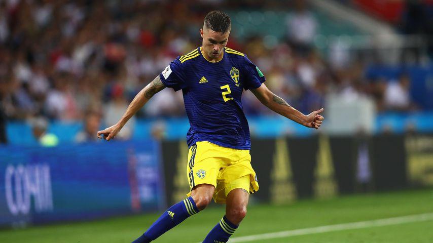 Mikael Lustig beim WM-Vorrundenspiel in Sotschi