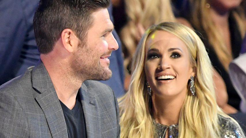 XXL-Babybauch: Carrie Underwood trägt Klamotten ihres Mannes